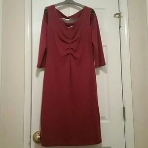 Coleen Lopez Dress, color burgundy